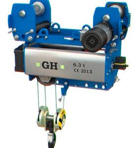 Normal headroom single girder electric hoists for cranes