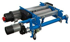Compact double girder electric hoists for cranes
