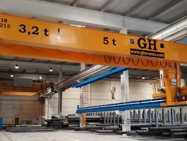 Steel handling Industry - completed projects of GH Cranes Arabia